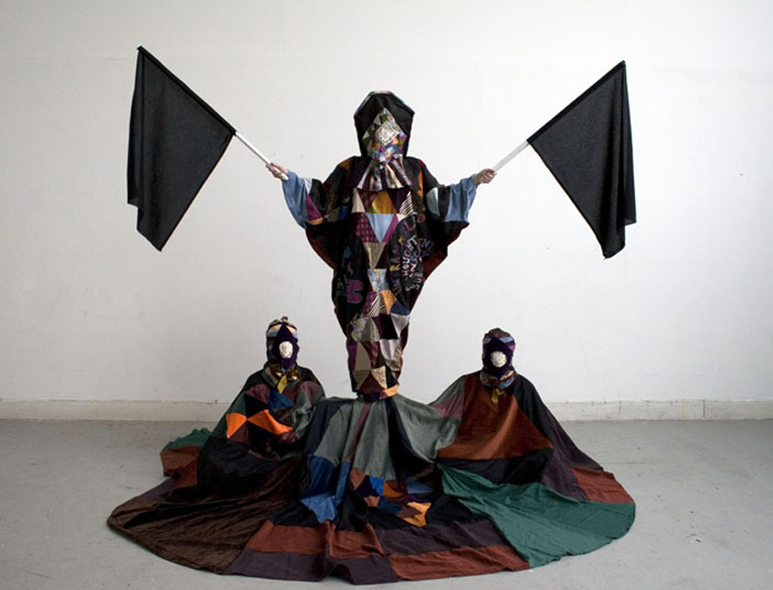 The Shaman Suit, 2009. Wearable textile sculpture
