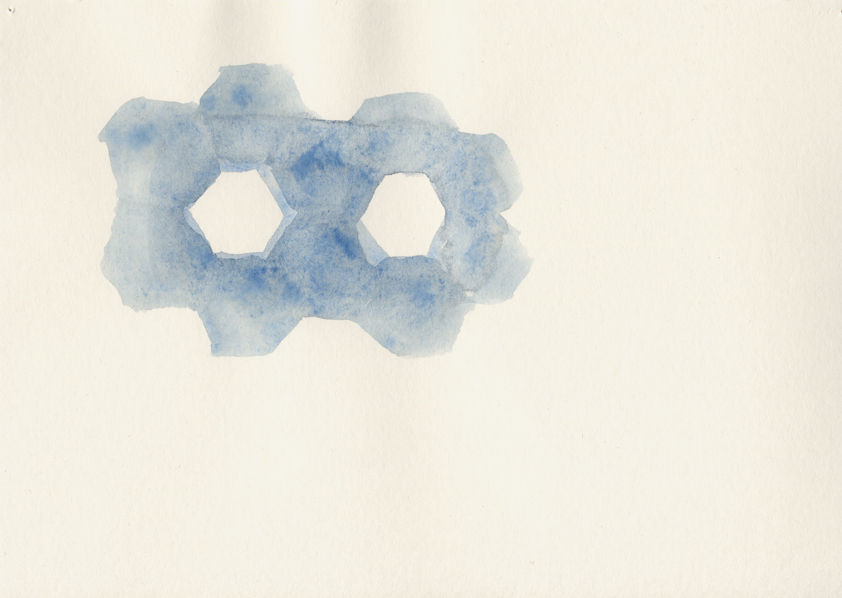 Gunilla Hansson, REFINE, 2013, 20.9x14.6 cm, watercolour on paper.